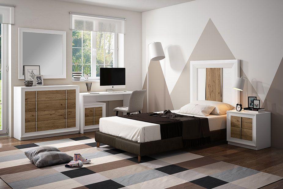 Dormitorio Juvenil Ref 404 Blanco Salermo
